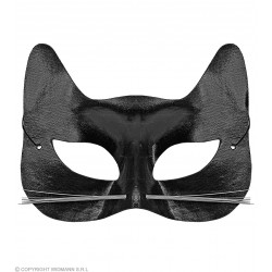 Μάσκα Ματιών Γάτας με μουστάκια δερματίνη