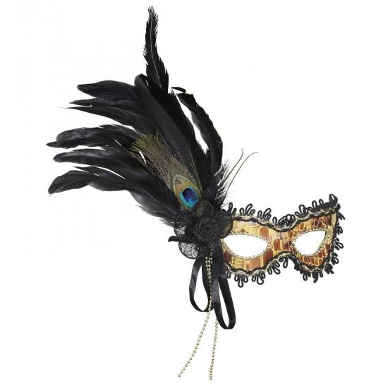 Μάσκα Ματιών με χάντρες και διάφορα φτερά