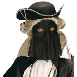 Μάσκα Ματιών μαύρη με βέλο