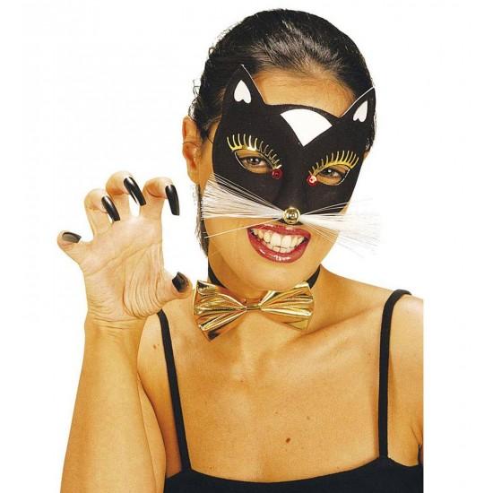 Μάσκα Ματιών γάτας με μουστάκια 2χρ