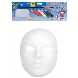 Μάσκα Paper Mache Ζωγραφικής Με 5 Χρώματα