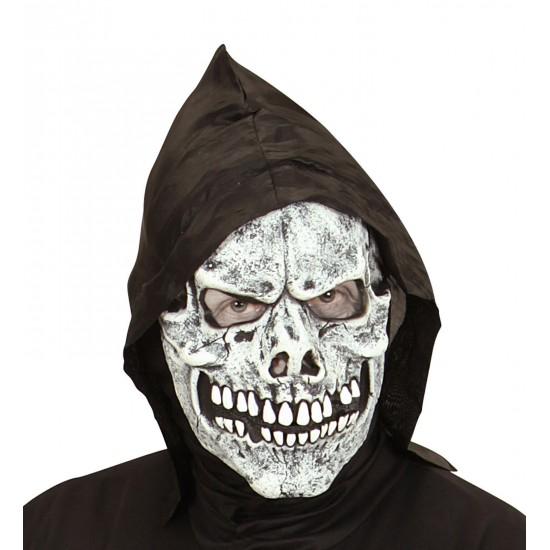 Μάσκα Σκελετός latex με Κουκούλα