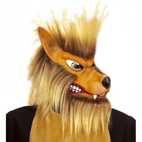 Μάσκα Λύκος Latex με Μαλλιά