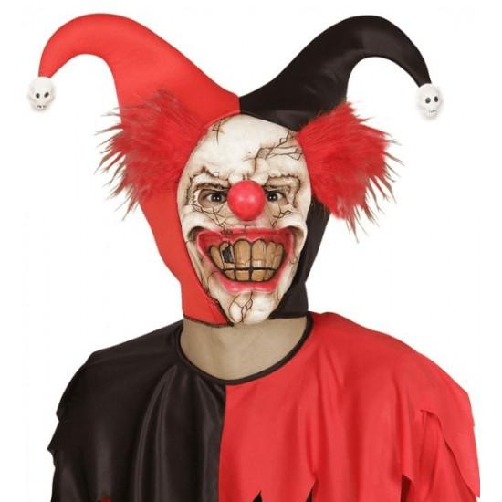 Μάσκα Latex Killer Clown με μαλλιά