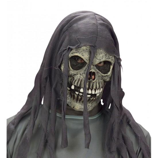 Μάσκα Τρόμου latex με Κουρελιασμένη Κουκούλα