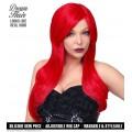Περούκα Αλίκη Κόκκινη Delux με δέρμα σιλικόνης