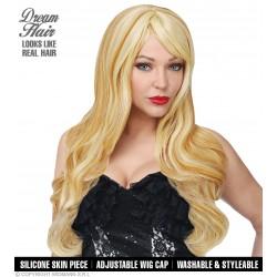 Περούκα Μελίσσα Ξανθιά Delux με δέρμα σιλικόνης