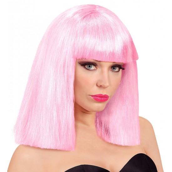 Περούκα Ροζ Μεσαίο Καρέ Showgirl