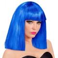 Περούκα Μπλε Μεσαίο Καρέ Showgirl