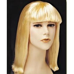 Περούκα Ξανθιά Μακρύ Καρέ με Φράντζα