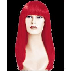 Περούκα Κόκκινη Μακριά με Φράντζα
