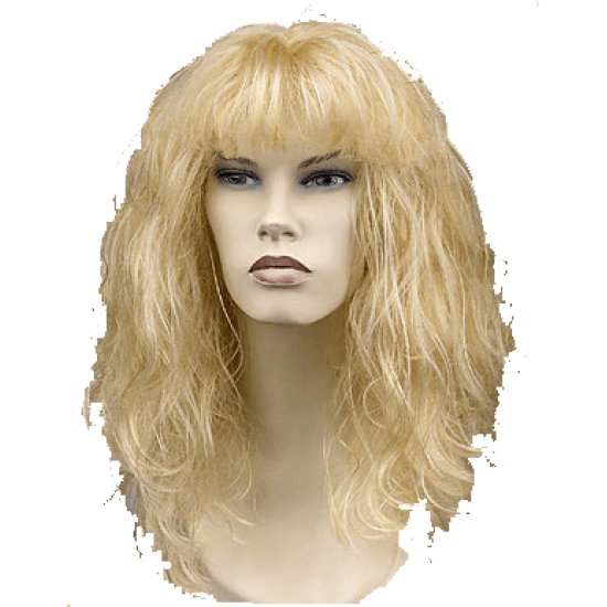 Περούκα Ξανθιά Μακριά με Φράντζα Rock Star