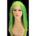 Περούκα Πράσινη Μακριά Χωρίς Φράντζα