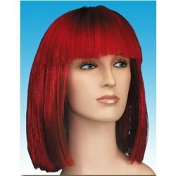 Περούκα Κόκκινη Μεσαίο Καρέ με Φράντζα