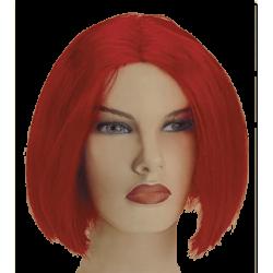 Περούκα Κόκκινη Κοντό Καρέ Χωρίς Φράντζα