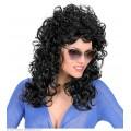 Περούκα Ζγουρή Μακριά Μαύρη