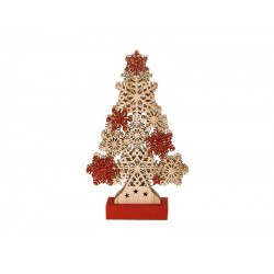 Δέντρο ξύλινο με φωτάκια led 30x18x5cm