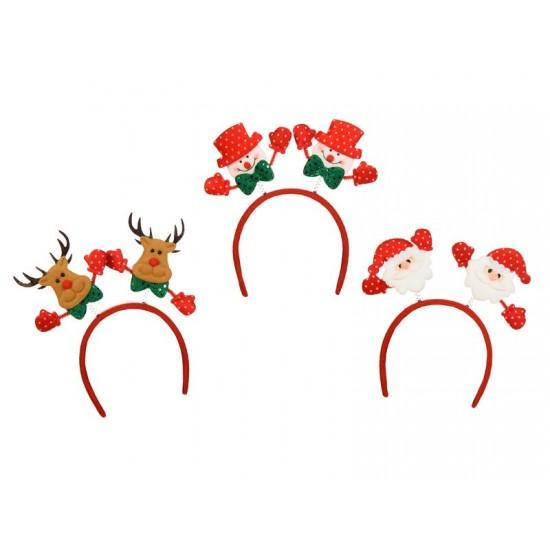 Χριστουγεννιάτικη Στέκα Χαρούμενες Φατσούλες 3σχ