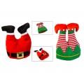 Σκούφος Χριστουγεννιάτικος πόδια 36cm 2σχ