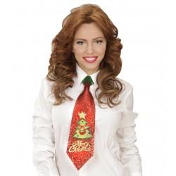 Χριστουγεννιάτικη Γραβάτα με glitter