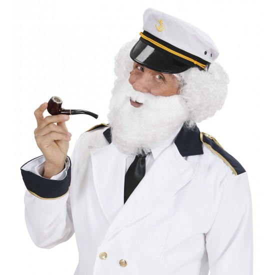 Γενειάδα Λευκή με μουστάκι W0782