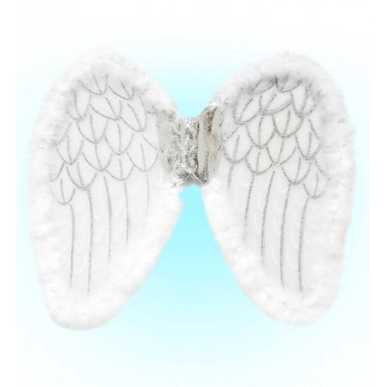 Φτερά Αγγέλου με ασημί glitter 60cm
