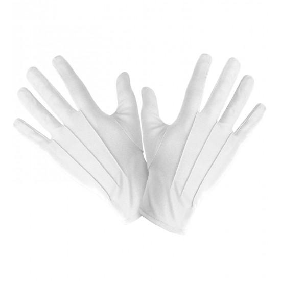 Γάντια Λευκά κοντά W4638B