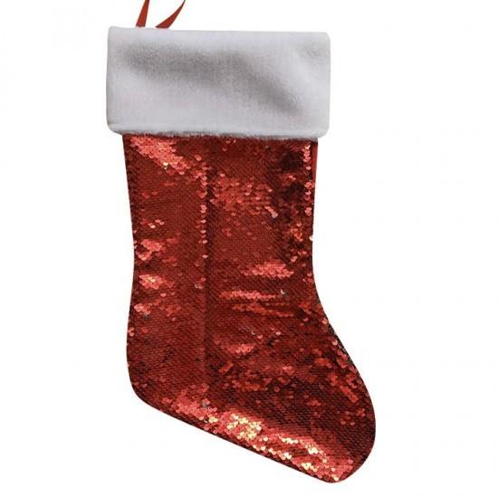 Μπότα Χριστουγέννων κόκκινη πούλιες 46cm