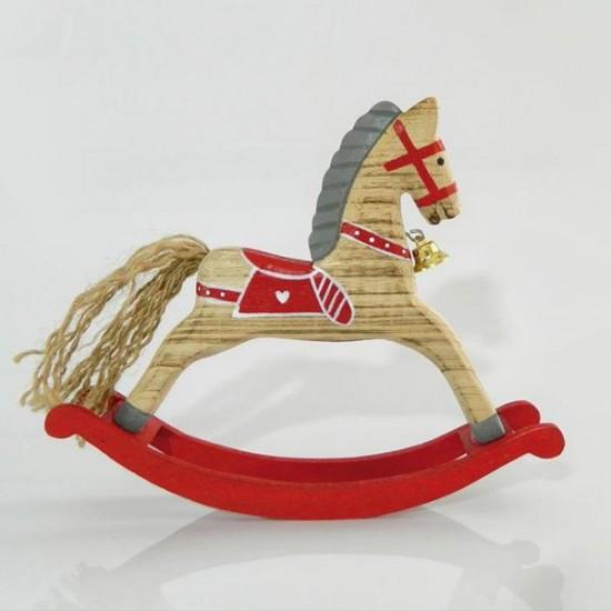 Ξύλινο αλογάκι με βάση 20Χ3,8Χ17cm