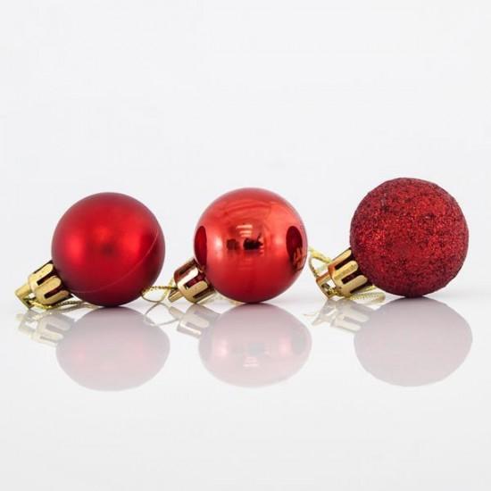 Μπάλα πλαστική κόκκινη set 24 τεμ mix 3cm