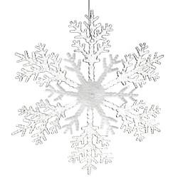 Νιφάδα ακρυλική λευκή-διάφανη κρεμαστή 30cm