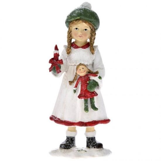 Διακοσμητικό κοριτσάκι με κούκλα 5x5x13cm
