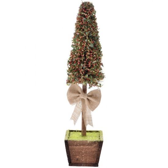 Χριστουγεννιάτικο Δέντρο σε ξύλινη γλάστρα 50cm