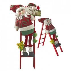 Άγιος Βασίλης πάνινος σε σκάλα 56x25cm