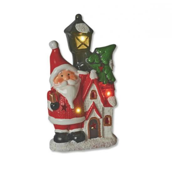 Άγιος Βασίλης σε φανάρι με φώς 13,5Χ8Χ24cm