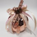 Γούρι Ρόδι ροζέ με διακόσμηση 9cm