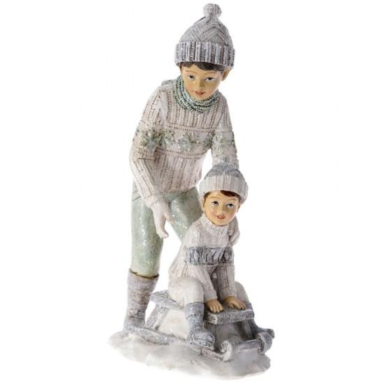 Μπαμπάς με Παιδί βεραμάν 11x8x21cm