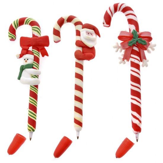 Χριστουγεννιάτικο Στυλό Μπαστούνι 16cm
