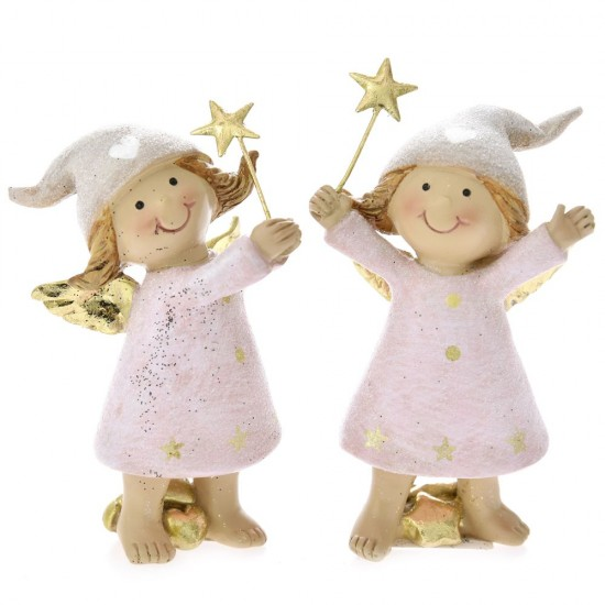 Άγγελοι με Αστέρια 5x4x9cm 1 τεμ
