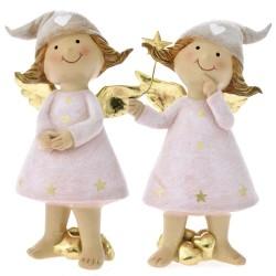 Άγγελοι με Αστέρια Πολυρεζίν 8x8x15cm 1 τεμ