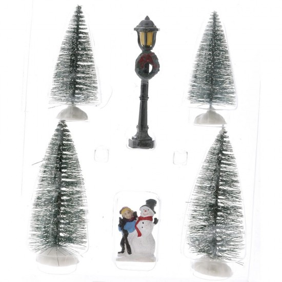 Φιγούρες set 6 τεμ 4 δέντρα & 2 φιγούρες 5x18x26cm