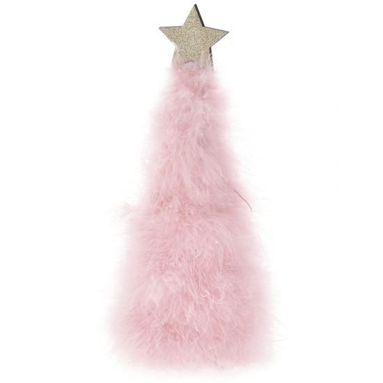 Δέντρο Γούνινο ροζ με Αστέρι 10x30cm