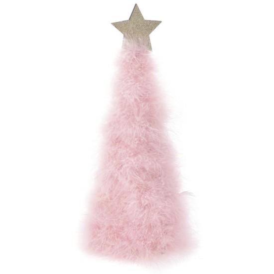 Δέντρο Γούνινο ροζ με Αστέρι 12x36cm