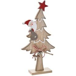 Δέντρο ξύλινο με Αϊ Βασίλη 14x5x30cm