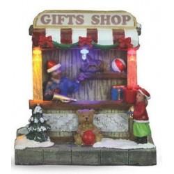 Χριστουγεννιάτικο Διακοσμητικό σπιτάκι 10,5Χ8,5Χ10,5cm 4σχ