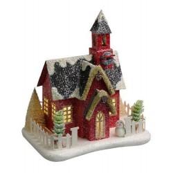 Χριστουγεννιάτικο Σπιτάκι με φως 22Χ14Χ27cm