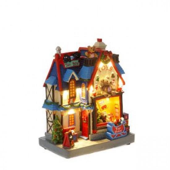 Χριστουγεννιάτικο Σπιτάκι Toys Shop 20X15X10cm