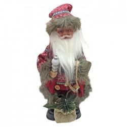 Άγιος Βασίλης μπαταρίας με γούνα 32cm