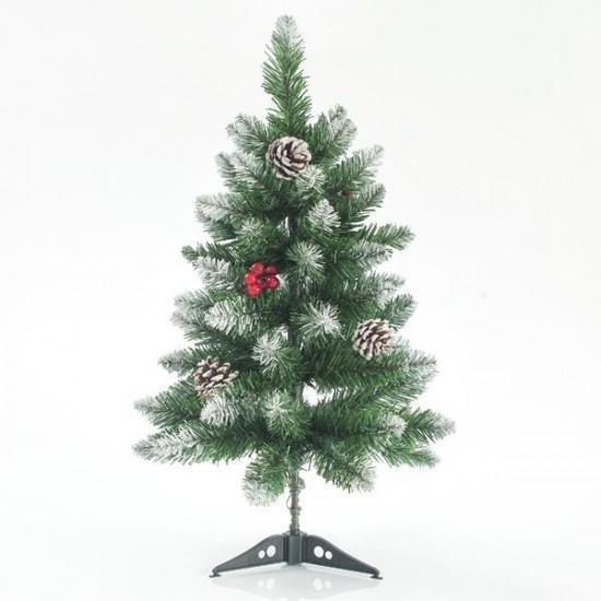 Δέντρο Έλατο Χιονισμένο με berry πλαστική βάση 60cm