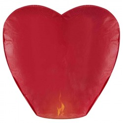 Χάρτινο Ιπτάμενο Φαναράκι καρδιά κόκκινο